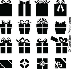 Set of gift icon