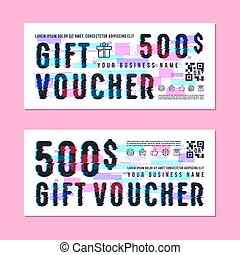 Set of gift voucher template