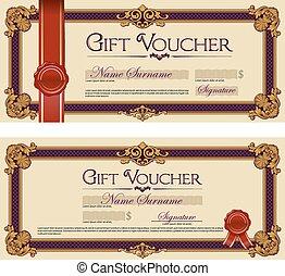 Set of Gift Vouchers