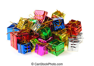 Set of gifts in boxes
