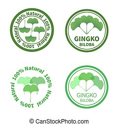 Ginkgo biloba labels