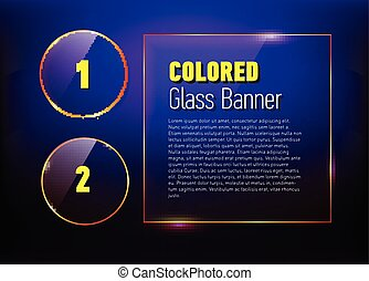 Set of glass banners for your design.