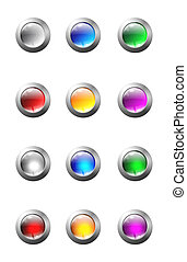 Set of glass buttons with two types of filling. File contain...