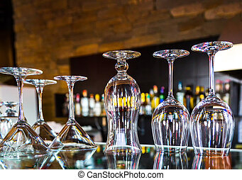 set of glass goblets