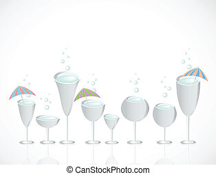 Set of glasses. Vector