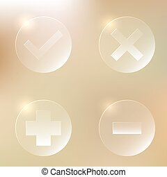 Set Of Glassy Icon
