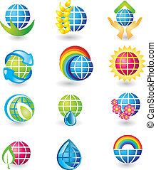 Set of globe design icons