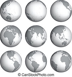 Set of globe icons vector illustration