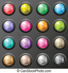 Set of glossy button for web applications.