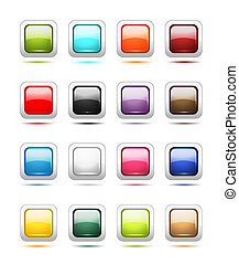 Set of glossy button icons for your design