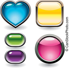 Set of glossy buttons for web desig