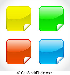 Set of glossy icons - illustration