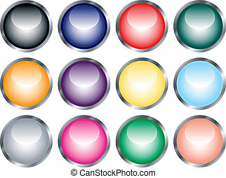 Set of Glossy Web Buttons