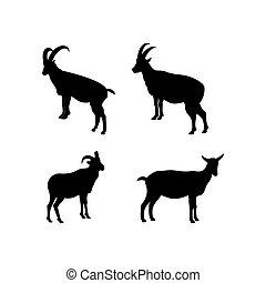 Set of Goat icon logo vector