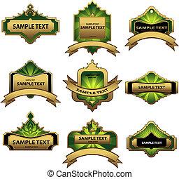 Set of gold labels