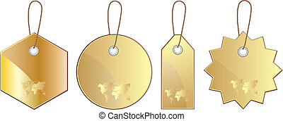 Set of gold price label