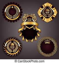Set of gold vip