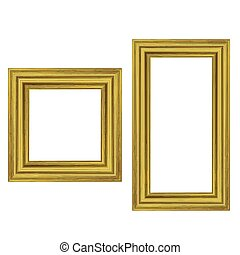Set of Gold Wooden Frames
