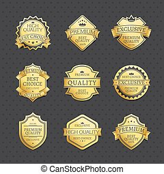 Set of Golden Labels Best Choice Premium Quality