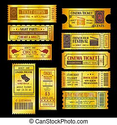 Set of golden vector tickets