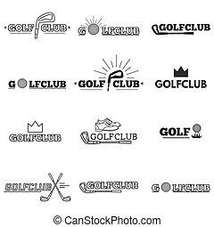 Set of golf club logos
