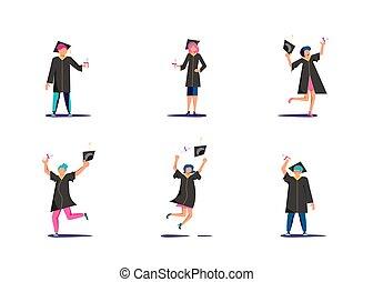 Set of graduated students
