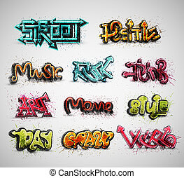 Set of graffiti