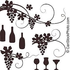 Grape design elements.