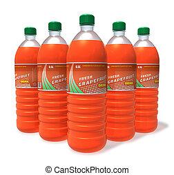 Set of grapefruit drinks