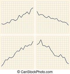 set of graphs - vector illustration