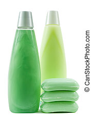 Set of Green Color Hygienic Supplies