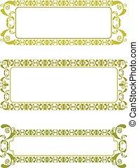 green floral frame