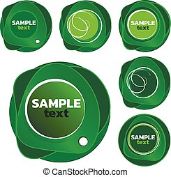 Set of green templates for your logo design.