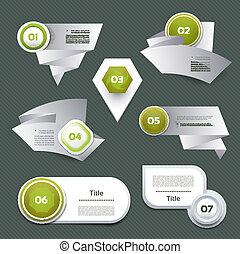 Set of green vector progress