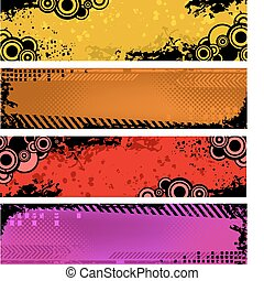 Set of grunge banners
