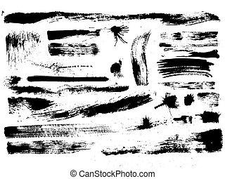 "set of grunge brushes - artistic effect ""dry brush"", vector..."