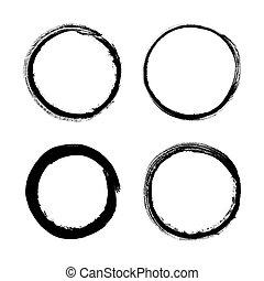 Set of grunge circle
