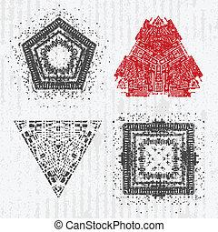 Set of grunge design elements.