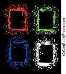 set of grunge frames - set of grunge color frames or borders...