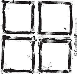 Set of grunge frames. vector illust