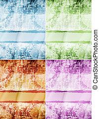 set of grunge old paper background