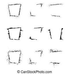 Set of grunge rectangle frames