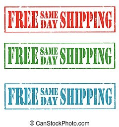 Free Same Day Shipping - Set of grunge rubber stamps with...