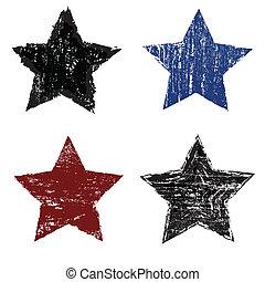Set of grunge star