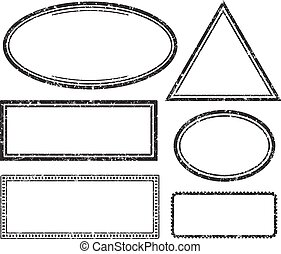 Set of grunge templates for rubber stamps