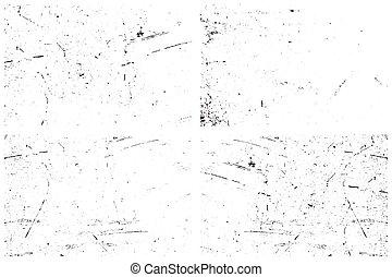 Set of grunge texture vector illustration