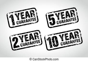 guarantee stamps - set of guarantee stamps