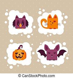 Set of Halloween Animals