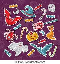 set of Halloween icons