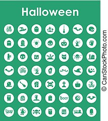 Set of halloween simple icons